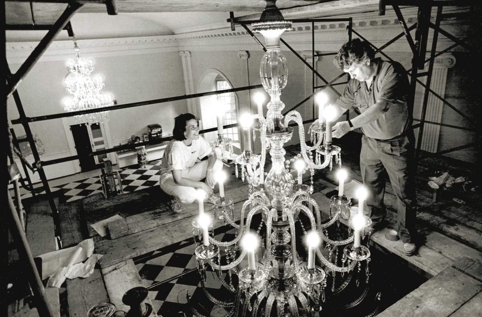 Restoring a Large Crystal Chandelier