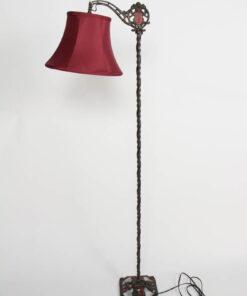 Antique Iron Bridge Lamp with Original Painted Accents.