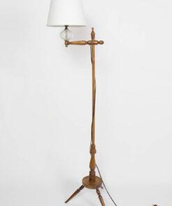 Vintage Cottage Wooden Floor Lamp