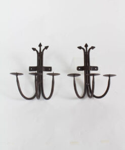 Three Light Candle Sconces, wrought iron