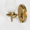 S283: Single Arm Brass Sconces with Original Frosted Glass, Three Available