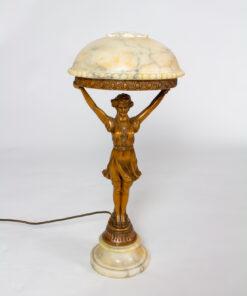 T275: Art Deco Alabaster Figurine Lamp