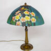 T281: Handel Table Lamp With Teal Parrot Shade
