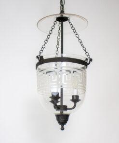 Late 20th Century Greek Key Bell Jar