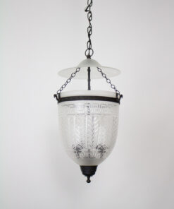Neoclassical Glass Bell Jar Lantern