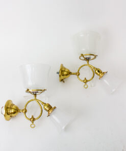 Brass Gas and Electric Sconces - a pair