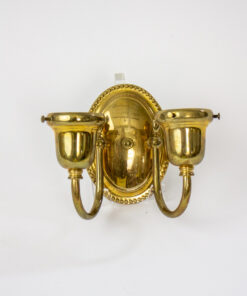 Reproduction Two Arm Brass Sconces