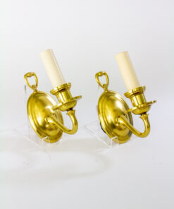 Pair of Single Arm Brass Wall Sconces