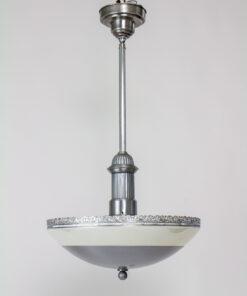 1930's Iridescent and Steel Pendant